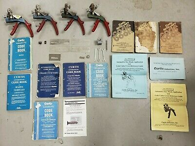 Vintage Curtis Chrysler Key Puncher Set With Code Books And More