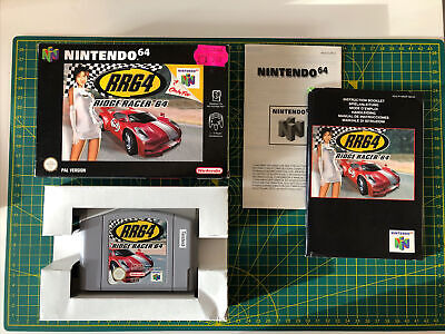 Ridge Racer 64 Nintendo N64 Pal Boxed With Instructions