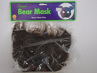 Plush Brown Bear Mask Halloween Party School Play Theater Trick Or Treat