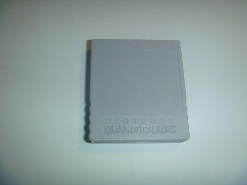 Official Genuine OEM Nintendo Gamecube Memory Card 59 Blocks Grey DOL-008
