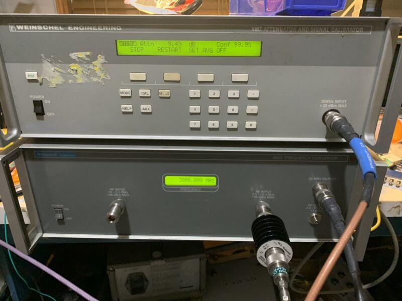Weinschel Attenuator Calibration System 0.01-18GHz VM7/8852 Tested