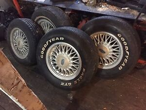 6 15inch ford honeycomb wheels