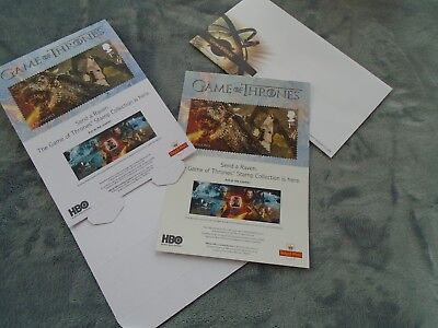 GAME OF THRONES ROYAL MAIL ADVERTISING(DISPLAY CARD, SCREEN STICKER AND FDE)
