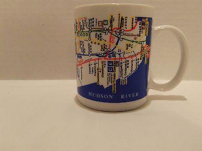- NEW YORK SUBWAY MAP MTA COFFEE MUG--MANHATTAN- TIME SQ.-GREENWICH VILLAGE