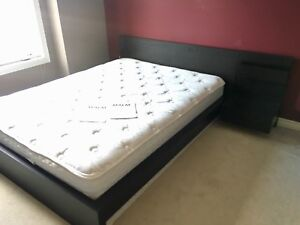 Queen MALM bed with sealy Queen mattress and boxspring