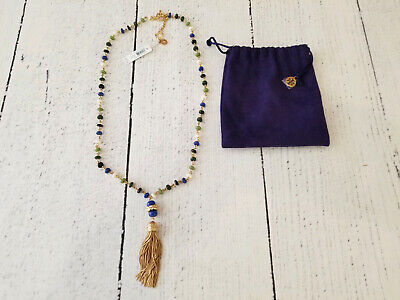 Tory Burch Beaded Tassel Necklace - New with Tags