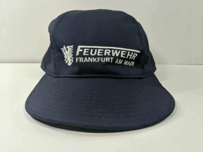 Feuerwehr Frankfurt Am Main Fire Dept Blue Hat - Hook and Loop - Size 56-58