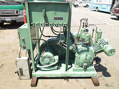 Ingersoll Rand 20 H.p. Industrial Reciprocating Air Compressor With Aftercooler