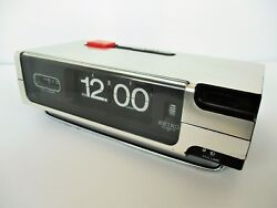 Vintage Seiko Battery Flip Clock with Alarm and Lights