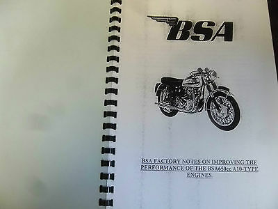 BSA A10 ROCKET GOLD STAR TUNE UP MANUAL INC SOME Service Sheets 1964 - BW51