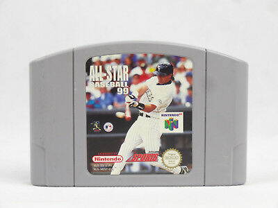 Nintendo 64 N64 All Star Baseball 99 Cartridge PAL