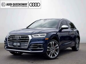 2018 Audi SQ5 3.0T Technik, Driver Assistance, No Accidents