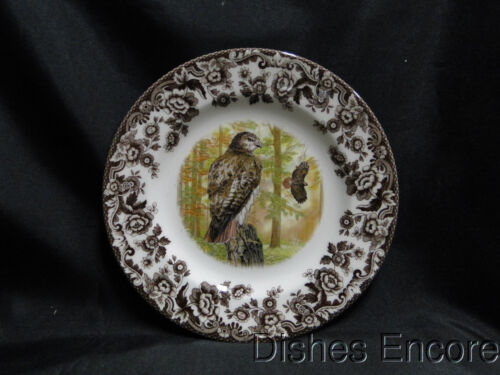 "Spode Woodland Birds of Prey Autumn Red Tail Hawk: Salad Plate, 7 3/4"" NEW Box"