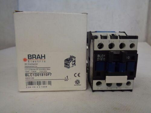 NEW BRAH ELECTRIC BLC1D01810F7 AC CONTACTOR 10/120 V COIL