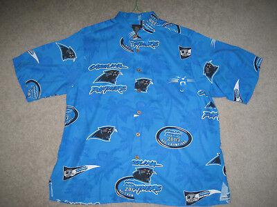CAROLINA PANTHERS CLASSIC LOGO HAWAIIAN SHIRT NFL MERCHANDISE SIZE: LARGE](Carolina Panthers Merchandise)