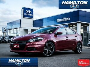 2014 Dodge Dart | GT | LEATHER | NAVI | BACK UP CAM | ALLOYS|