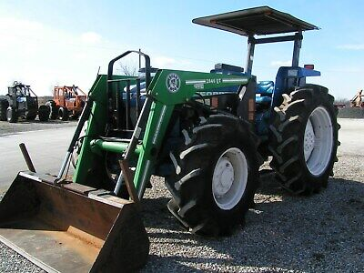 Ford New Holland 7610 Farm Tractor 4x4 Loader 90 Hp
