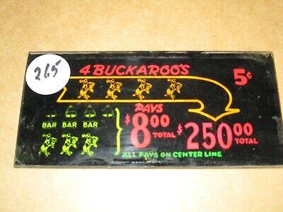 BUCKAROO $.05 Slot Machine Sign Replacement Part -