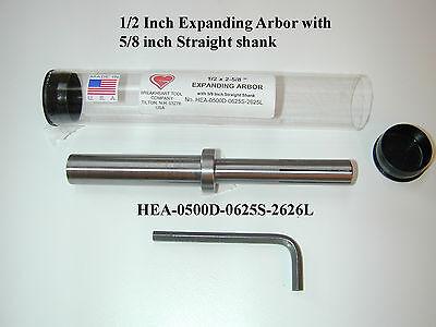 12 X 2-58 Expanding Mandrel Arbor - 58 Inch Straight Shank - American Made