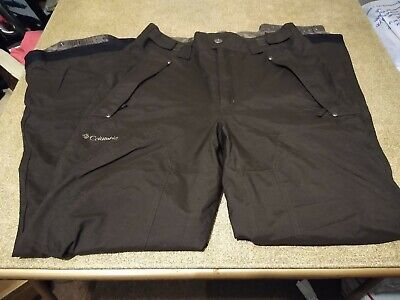 Columbia Brown Omni-Tech Boundary Run Insulated Snowboard/Ski Pants Men's size S Run Omni Tech Pant