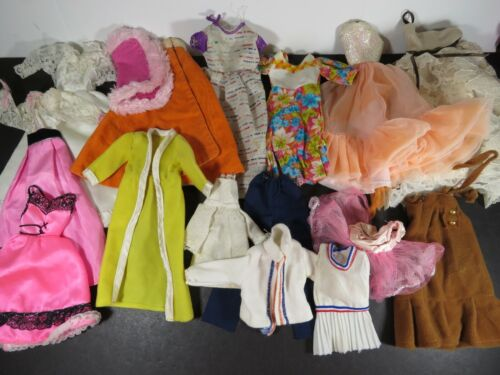 16 pc Vintage Clone Ooak Fashion Doll Clothing Lot Fits Barbie Mixed Lot B925