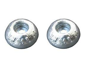 Pair of Zinc Round Anodes 60diax20mm for Boat hulls, rudders and trim tabs