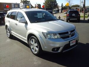 2011 DODGE JOURNEY R/T AWD- POWER GLASS SUNROOF, LEATHER HEATED