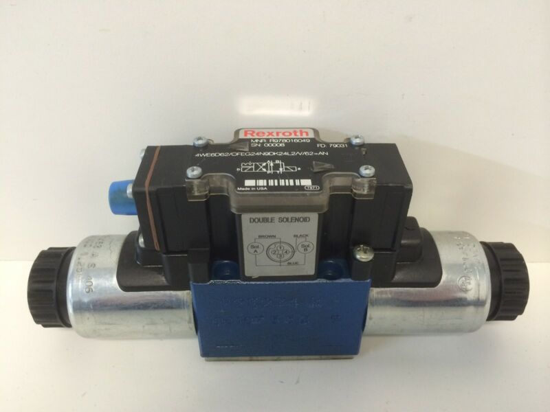 NEW REXROTH HYDRAULIC VALVE R978016049 4WE6D62/OFEG24N9DK24L2/V/62=AN