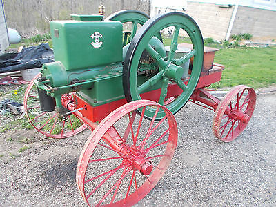 Antique Vintage Old 10 HP The Lauson Hit And Miss Gas Engine On Cart Frost King