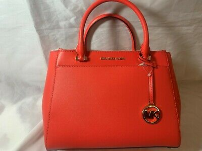 Michael Kors Gibson Leather Satchel Sea Coral w/ Dust Bag MSRP $298