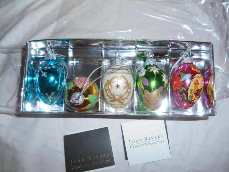Authentic NIB Joan Rivers Faberge Ornaments/eggs QVC Retired 11