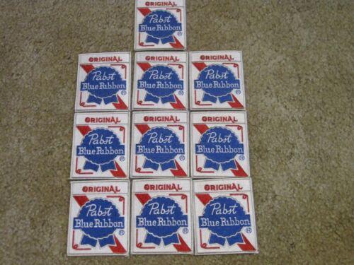 ORIGINAL PABST BLUE RIBBON WHOLESALE LOT SET OF 10 FOR RESALE! CAP / CREST SIZE!