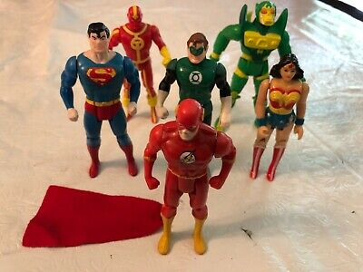 Vtg Kenner DC Super Powers lot 1980's - Superman,Red Tornado,Green Lantern Flash