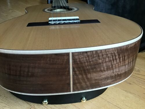"Luthier Custom Built "" Curly Black Walnut "" / Cedar Top Classical Guitar"