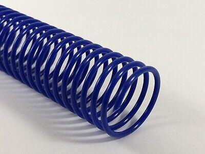 4:1 pk of 100 Spiral Binding Coils 7mm 9//32 x 36-inch Reflex Blue