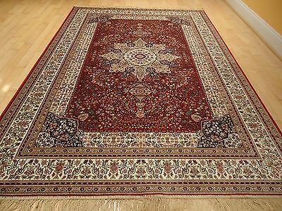 Luxury Silk Persian Tabriz Red Area Rugs 8x11 Traditional Silk Rug 6x8 Carpet