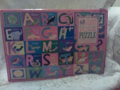 ABC Puzzle - Educational Floor Puzzle for kids, Learn Alphabet Animal PUZZLE NIB, used for sale  Barberton