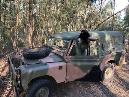 1971 Land Rover , ex army , vintage . One of a kind ,low ks