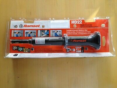 Ramset Hd22 22 Cal Concrete Powder Fastening Actuated Hammer Tool