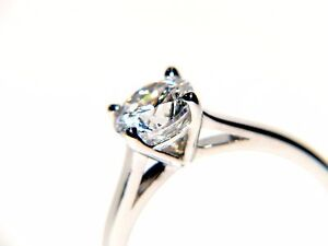 9Ct Gold 1Ct Elegant Diamond Solitaire Engagement Ring Size I-P Free Engrave/Box