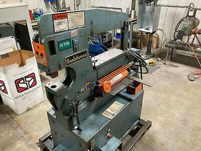 Scotchman Ironworker Model 4014c 40 Ton Hydraulic 3hp 3 Phase 230v