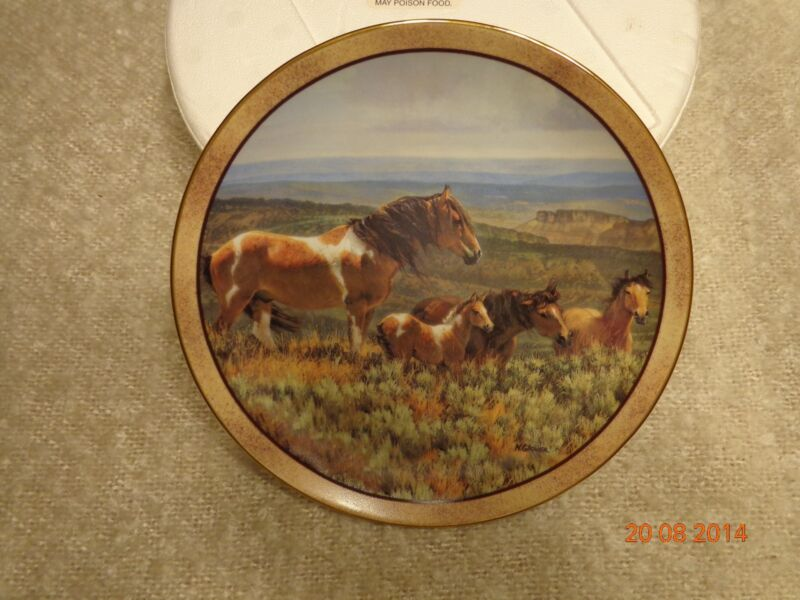 Danbury Mint/ Nancy Glazier Wild and Free Collection: 11 Horse Plate Collection