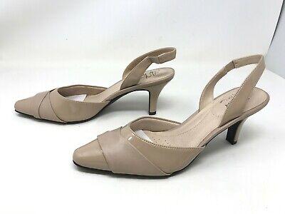 Womens Life stride Kerra Taupe High Heel Slingback Pumps (425J) Womens Slingback Heels