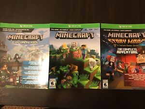 Minecraft triple pack for sale.