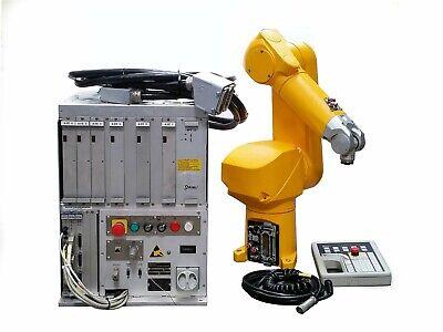 Staubli Rx60-l Industrial Robotic 6-axis Armcs7 Mb Rx60l Controllerpendant Iv