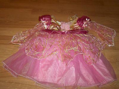 Size 4-6X Creative Designs Pink Asian Princess Costume Dress Gold Accent GUC