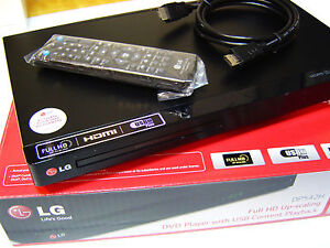 LG DP542H Full HD DVD player Multi Region 1 2 3 Multi Format USB free HDMI cable