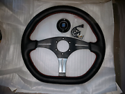 Black leather Nardi steering wheel South Yarra Stonnington Area Preview