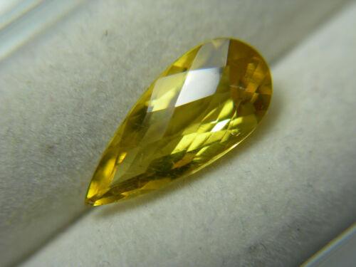 1.87ct rare Heliodor gem Yellow Beryl Golden Gemstone Brazil Checkerboard Top