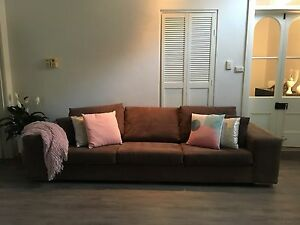 4 seater sofa lounge  - high quality macrosuede Glenelg East Holdfast Bay Preview